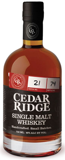 Cedar Ridge Whiskey Single Malt 750ml